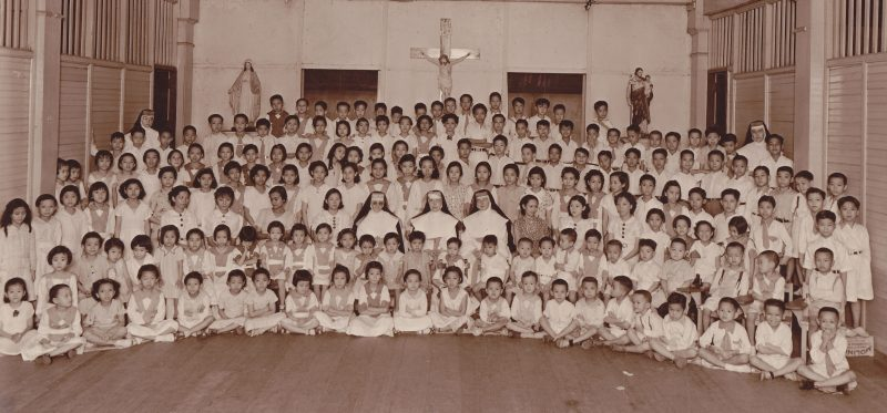 Students of Little School in 1936 at San Fernando, Binondo, Manila.